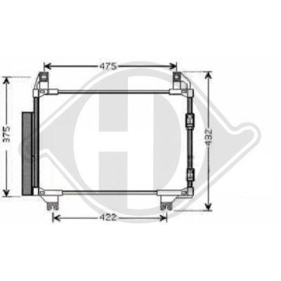 Condenseur, climatisation - Diederichs Germany - 8660600
