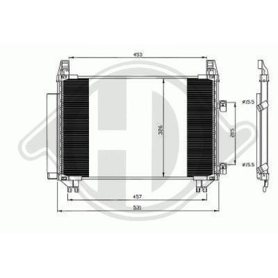 Condenseur, climatisation - Diederichs Germany - 8660601