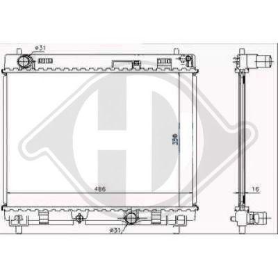 Radiateur, refroidissement du moteur - HDK-Germany - 77HDK8660606