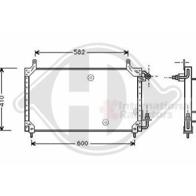 Radiateur, refroidissement du moteur - Diederichs Germany - 8660607