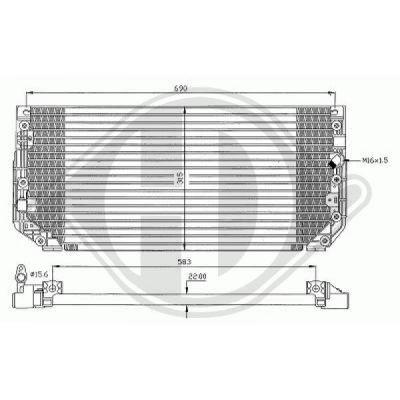 Condenseur, climatisation - Diederichs Germany - 8661600