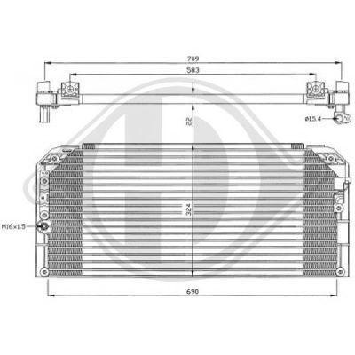 Condenseur, climatisation - Diederichs Germany - 8661601