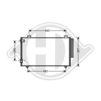 Condenseur, climatisation - Diederichs Germany - 8661800