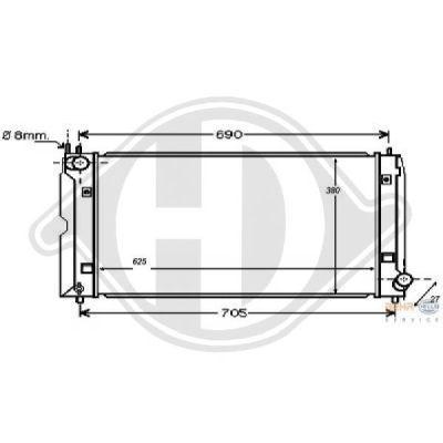 Radiateur, refroidissement du moteur - HDK-Germany - 77HDK8661804
