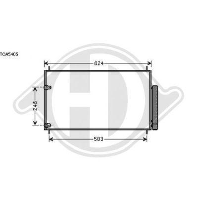 Condenseur, climatisation - Diederichs Germany - 8661900