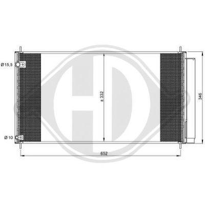 Condenseur, climatisation - Diederichs Germany - 8661901
