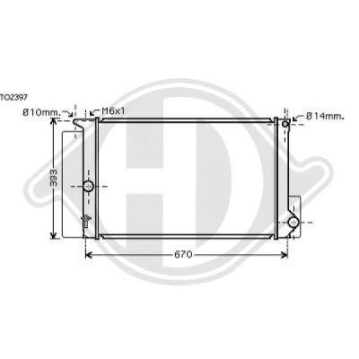 Radiateur, refroidissement du moteur - HDK-Germany - 77HDK8661905