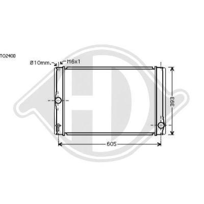 Radiateur, refroidissement du moteur - HDK-Germany - 77HDK8661907