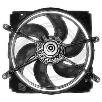 Ventilateur, refroidissement du moteur - Diederichs Germany - 8662210