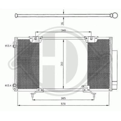 Condenseur, climatisation - Diederichs Germany - 8662300