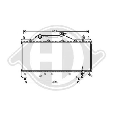 Radiateur, refroidissement du moteur - Diederichs Germany - 8662305