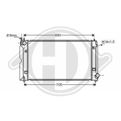 Radiateur, refroidissement du moteur - Diederichs Germany - 8662307