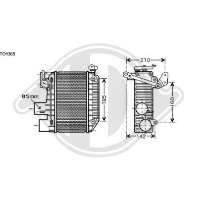 Intercooler, échangeur - Diederichs Germany - 8662310