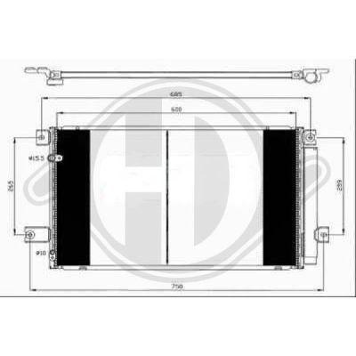 Condenseur, climatisation - Diederichs Germany - 8662401