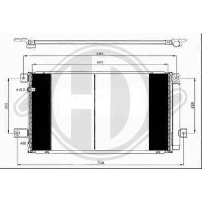 Condenseur, climatisation - HDK-Germany - 77HDK8662401