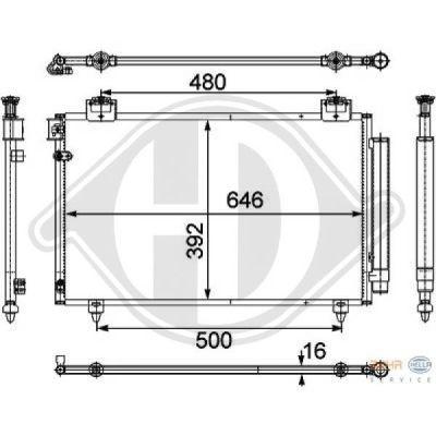 Condenseur, climatisation - HDK-Germany - 77HDK8662402