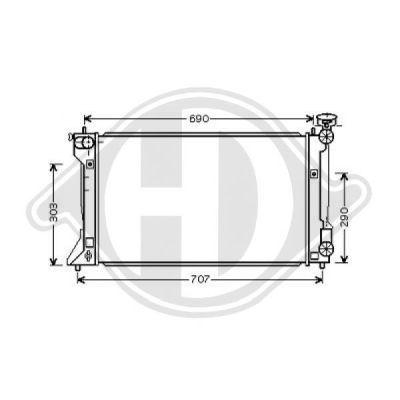 Radiateur, refroidissement du moteur - HDK-Germany - 77HDK8662403