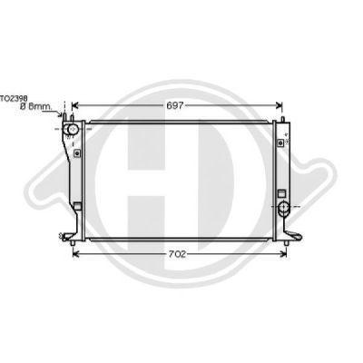 Radiateur, refroidissement du moteur - Diederichs Germany - 8662404