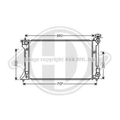 Radiateur, refroidissement du moteur - HDK-Germany - 77HDK8662406