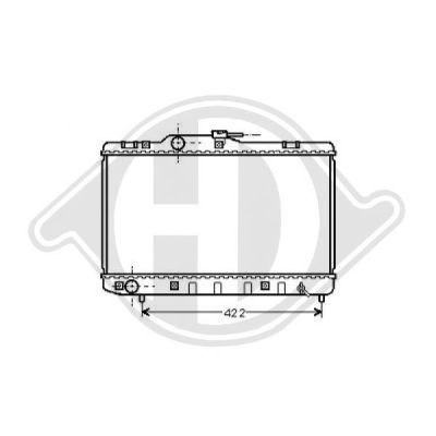 Radiateur, refroidissement du moteur - HDK-Germany - 77HDK8663300