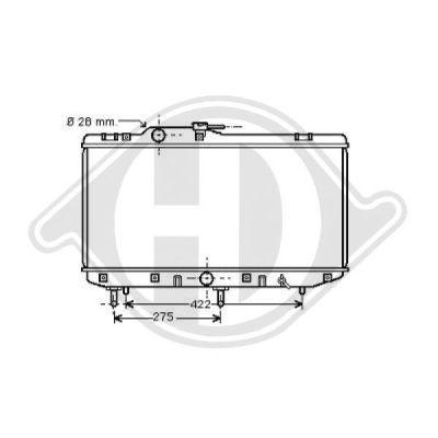 Radiateur, refroidissement du moteur - Diederichs Germany - 8663301