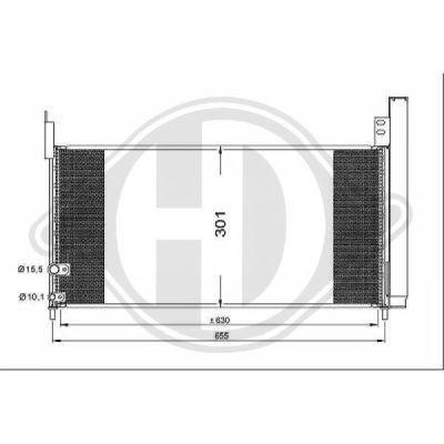 Condenseur, climatisation - Diederichs Germany - 8663600