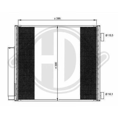 Condenseur, climatisation - Diederichs Germany - 8664500