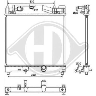 Radiateur, refroidissement du moteur - Diederichs Germany - 8664505