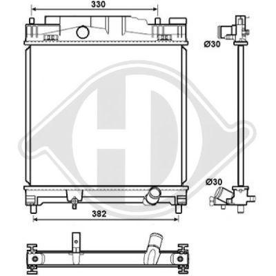 Radiateur, refroidissement du moteur - Diederichs Germany - 8664506