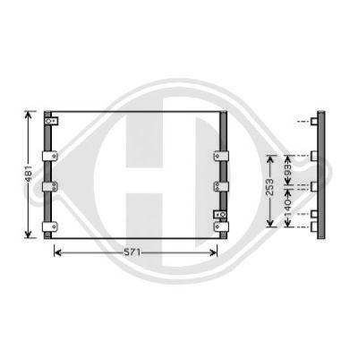 Condenseur, climatisation - Diederichs Germany - 8667280