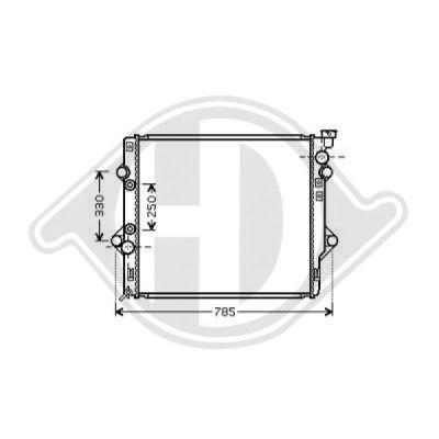 Radiateur, refroidissement du moteur - HDK-Germany - 77HDK8667300