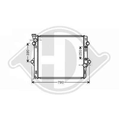Radiateur, refroidissement du moteur - Diederichs Germany - 8667301