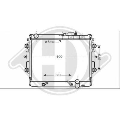 Radiateur, refroidissement du moteur - HDK-Germany - 77HDK8667485