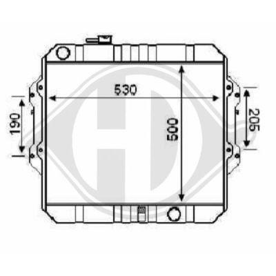 Radiateur, refroidissement du moteur - HDK-Germany - 77HDK8668286
