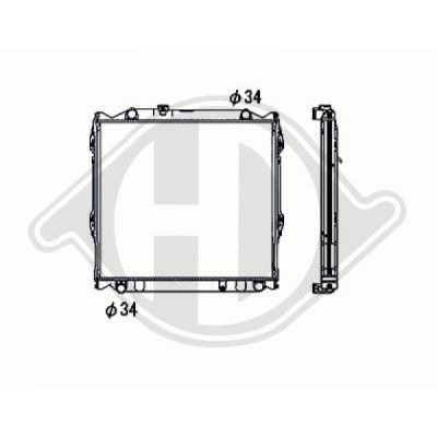 Radiateur, refroidissement du moteur - HDK-Germany - 77HDK8668288