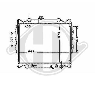 Radiateur, refroidissement du moteur - HDK-Germany - 77HDK8668290