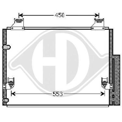 Condenseur, climatisation - Diederichs Germany - 8668401