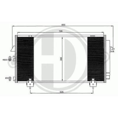 Condenseur, climatisation - Diederichs Germany - 8668600