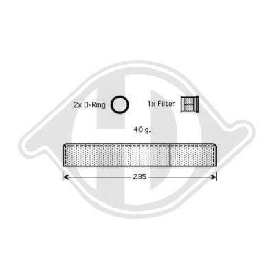 Filtre déshydratant, climatisation - HDK-Germany - 77HDK8668601
