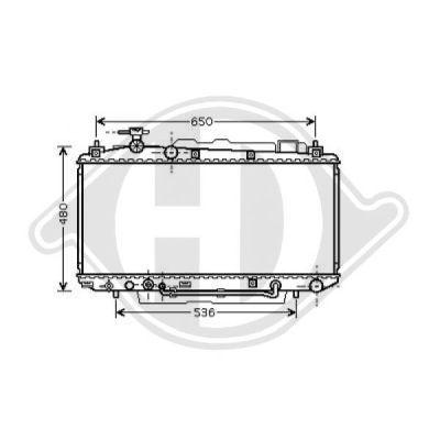 Radiateur, refroidissement du moteur - HDK-Germany - 77HDK8668602