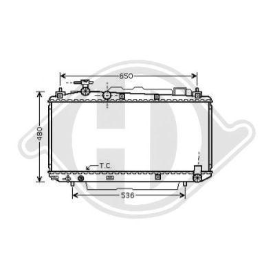 Radiateur, refroidissement du moteur - Diederichs Germany - 8668603