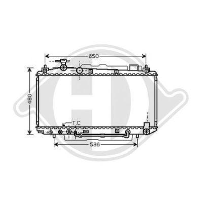Radiateur, refroidissement du moteur - Diederichs Germany - 8668604