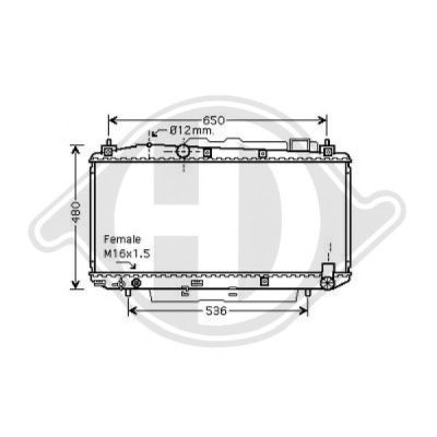 Radiateur, refroidissement du moteur - HDK-Germany - 77HDK8668605
