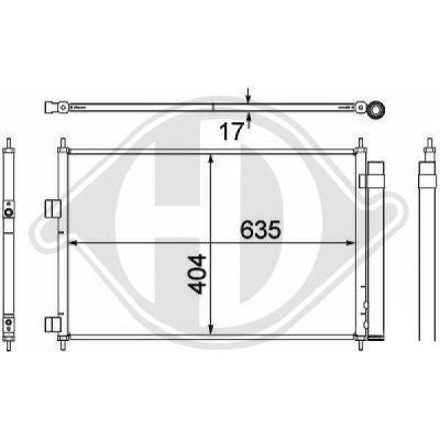 Condenseur, climatisation - HDK-Germany - 77HDK8668700
