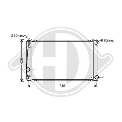 Radiateur, refroidissement du moteur - HDK-Germany - 77HDK8668702