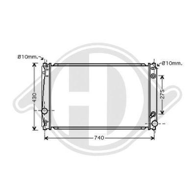 Radiateur, refroidissement du moteur - HDK-Germany - 77HDK8668704