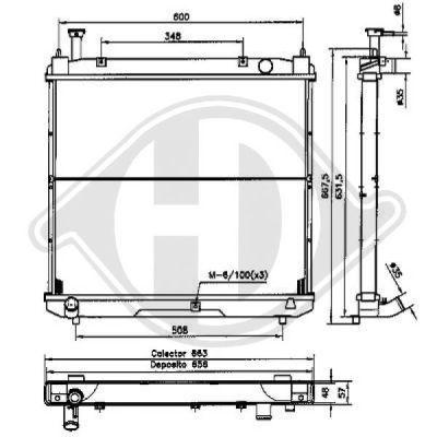 Radiateur, refroidissement du moteur - Diederichs Germany - 8669505