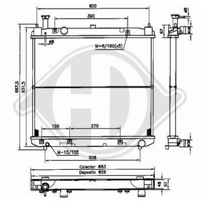 Radiateur, refroidissement du moteur - HDK-Germany - 77HDK8669507