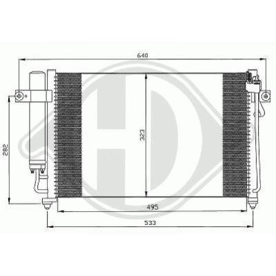Condenseur, climatisation - Diederichs Germany - 8680500