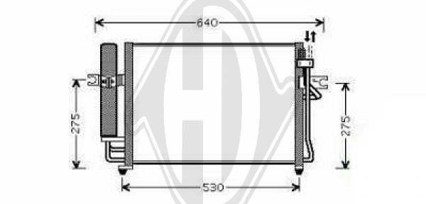 Condenseur, climatisation - Diederichs Germany - 8680501